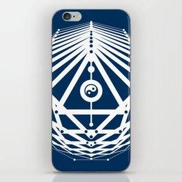 Radiant Abundance (blue-white) iPhone Skin