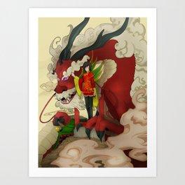 dragon keeper Art Print