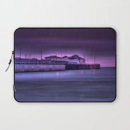 California USA Dreaming Sea Nature Pier night time Street lights Berth Night Marinas Laptop Sleeve
