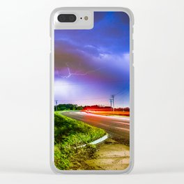 GODS ROAD Clear iPhone Case