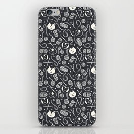 Cats LOVE Yarn! in Grey iPhone Skin