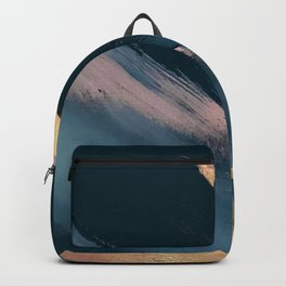 Ignite: colorful abstract in blue pink and gold Backpack