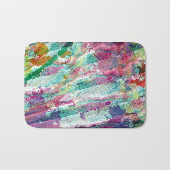 Bright Color Splash Abstract Bath Mat