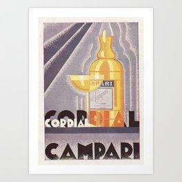 Vintage 1941 Cordial Campari Advertisement by Nicolay Diulgheroff Art Print