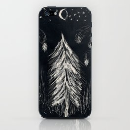Midnight In A  Burning Forest iPhone Skin