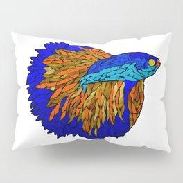 Betta Fighting Fish _ Orange Pillow Sham