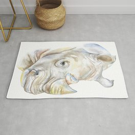 Rhino Watercolor Rug