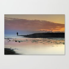 Waiting for the night at the sea sunset Canvas Print