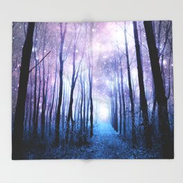Fantasy Forest Path Throw Blanket