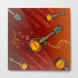 F style Mandolin BG Metal Print