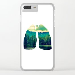 Lung Forest Fresh Clear iPhone Case