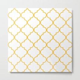 Quatrefoil - Butterscotch yellow Metal Print