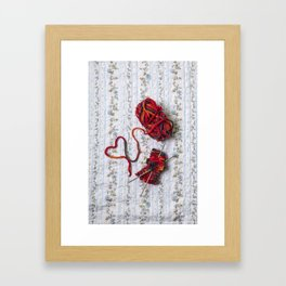 knitted with love Framed Art Print