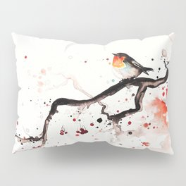 """The tiny wings """"The robin"""" Pillow Sham"""