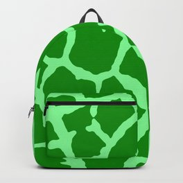 Green Giraffe Print Backpack