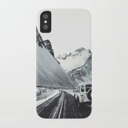 on the road in iceland iPhone Case