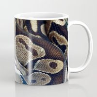 monty python Mugs featuring Python by GardenGnomePhotography
