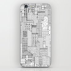 City Doodle (white) iPhone & iPod Skin