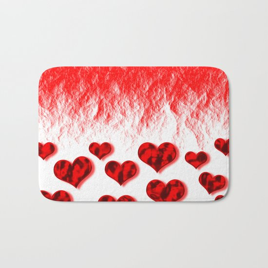 Hearts Abstract Pattern Bath Mat