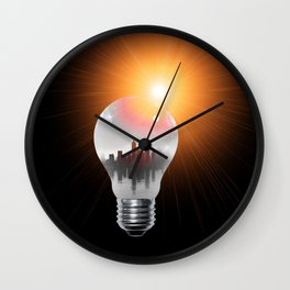 Lamp Wall Clock
