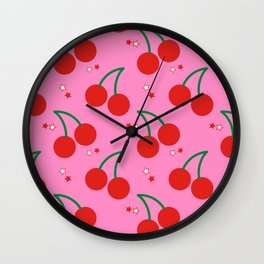 Cherry Bomb Pattern Wall Clock