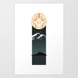 Omen Over Devil Reef Art Print