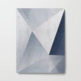 Indigo Minimal Geometry Metal Print