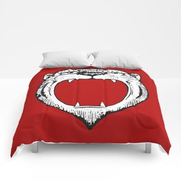 Tiger Head Red Comforters