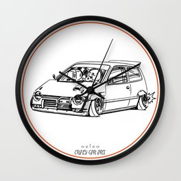 Crazy Car Art 0211 Wall Clock