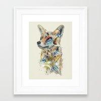 starfox Framed Art Prints featuring Heroes of Lylat Starfox Inspired Classy Geek Painting by Barrett Biggers