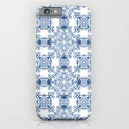 Kitty in a Blue Shoe Square iPhone Case