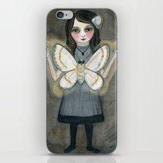 The Moth Girl, Victorian Portrait iPhone & iPod Skin