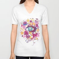chelsea V-neck T-shirts featuring Chelsea by AURA-HYSTERICA