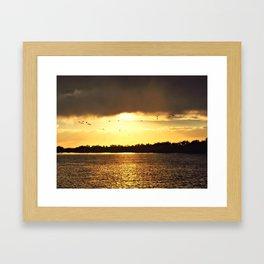 Sunset Break Framed Art Print