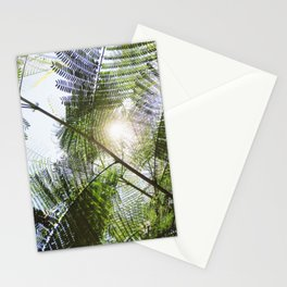 Big Light | Nature Leaves Forest Photo Stationery Cards