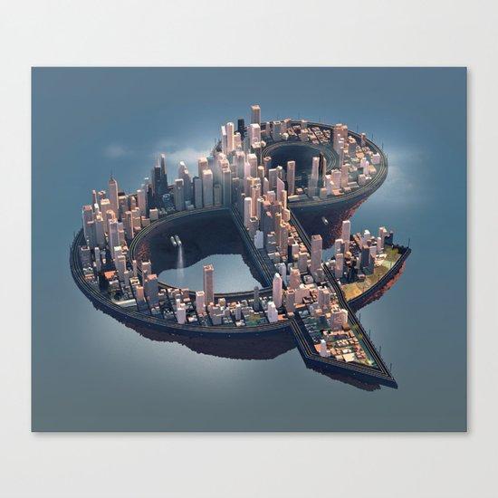 The City Canvas Print