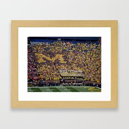 Michigan's Big House Framed Art Print