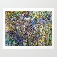 Dancing With No One Art Print