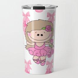 Little Ballerina in Pink Travel Mug