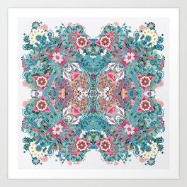 Blossoming Mandala Art Print