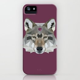 Geo Gem Wolf iPhone Case