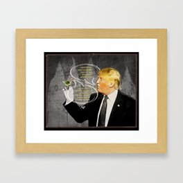 Chapter 10. Know-It- All Trump.  Framed Art Print
