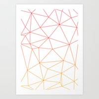 polygon Art Prints featuring polygon by kokihoon