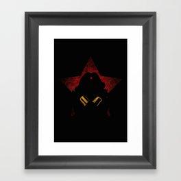 SuperHeroes Shadows : WonderWoman Framed Art Print