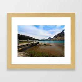 Bow Lake & Mountains Framed Art Print