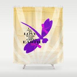 Dragonflies Green Earth Love Shower Curtain