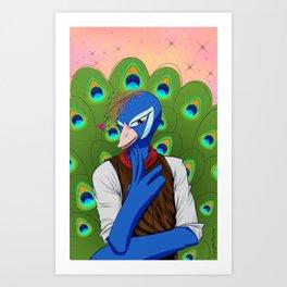 Pretty Boy Peacock Art Print