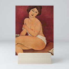 Amedeo Modigliani's Nude Sitting on a Divan Mini Art Print