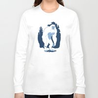 yeti Long Sleeve T-shirts featuring Yeti by Rachel Young