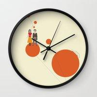 trip Wall Clocks featuring Trip by Judy Kaufmann